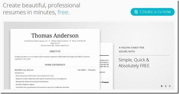 Build A Free Resume Line