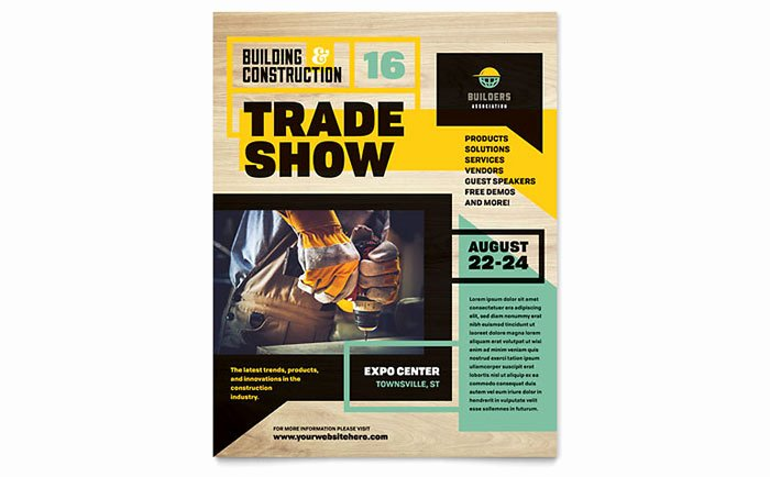 Builder S Trade Show Flyer Template Design