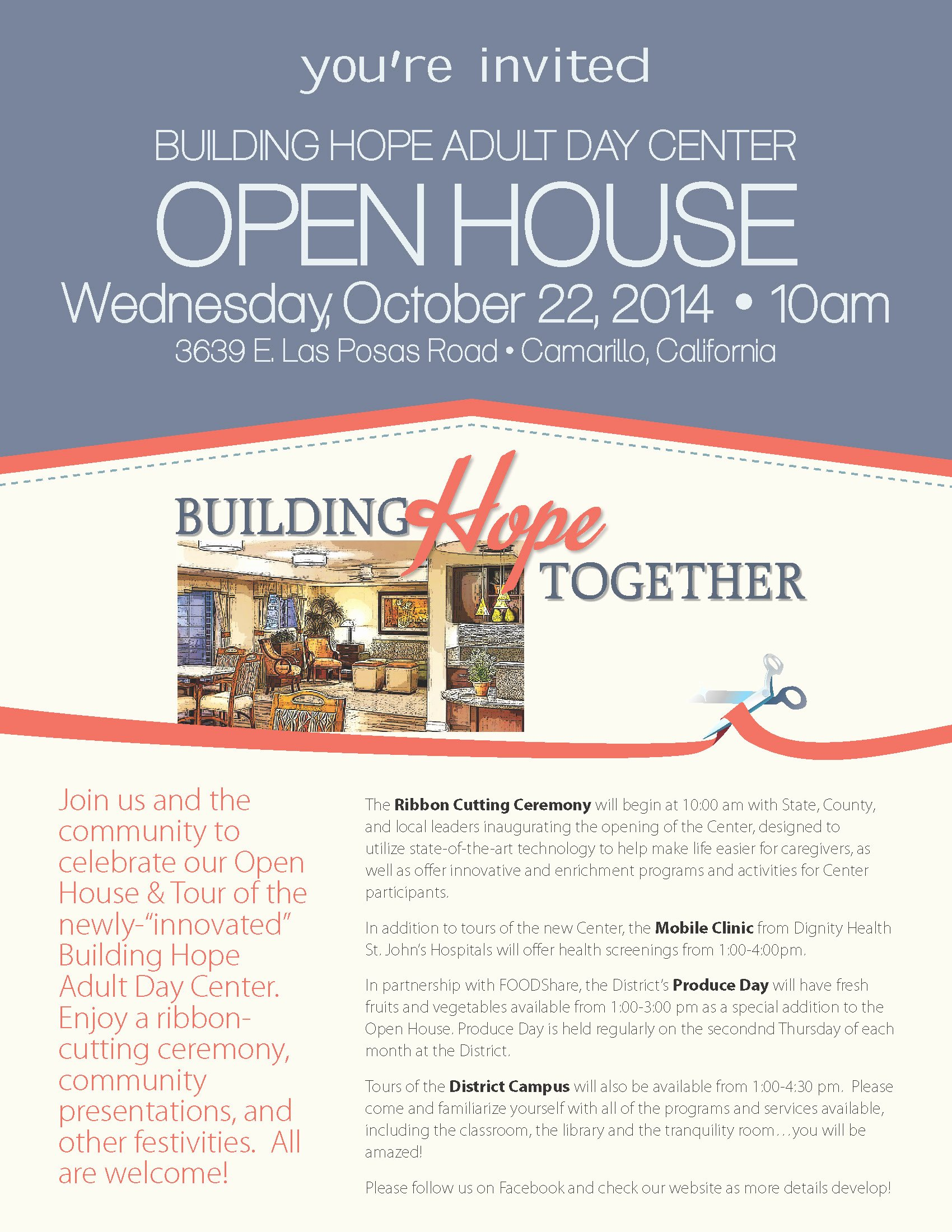 Building Hope Adult Day Center now Open