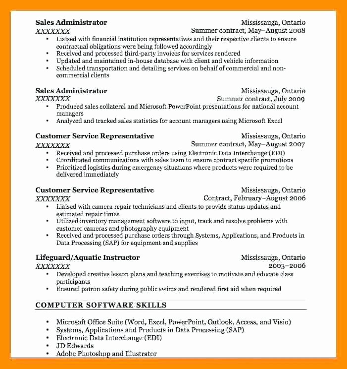 bullet point resume examples