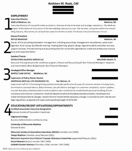 Bullet Points Resume