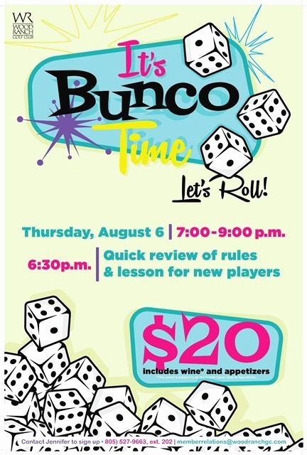 Bunco Night Flyer Poster Design Template