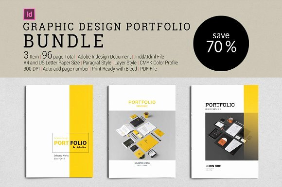 Bundle Graphic Design Portfolio Brochure Templates