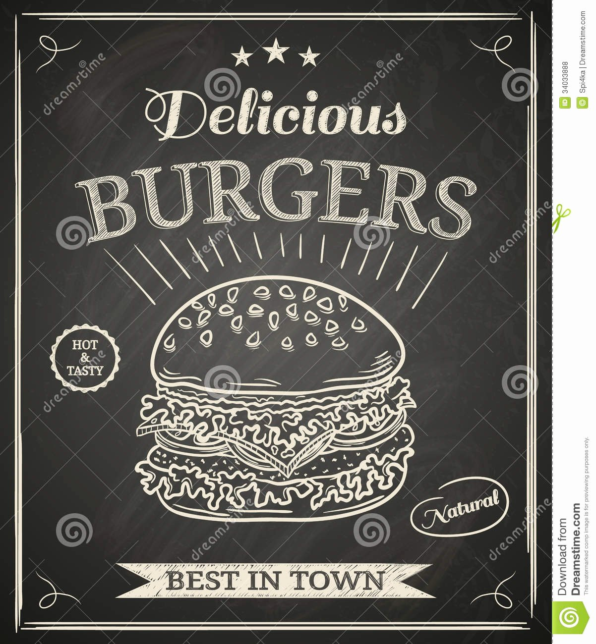 Burger Poster Royalty Free Stock S Image