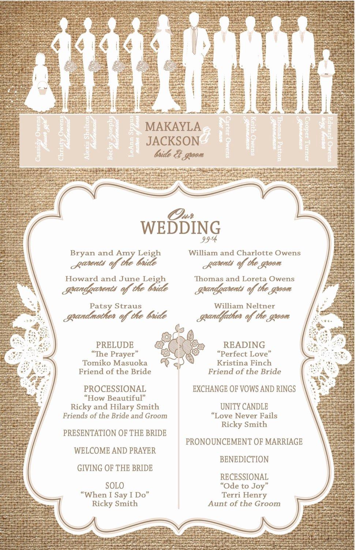 Burlap and Lace Wedding Programs Ceremony Programs
