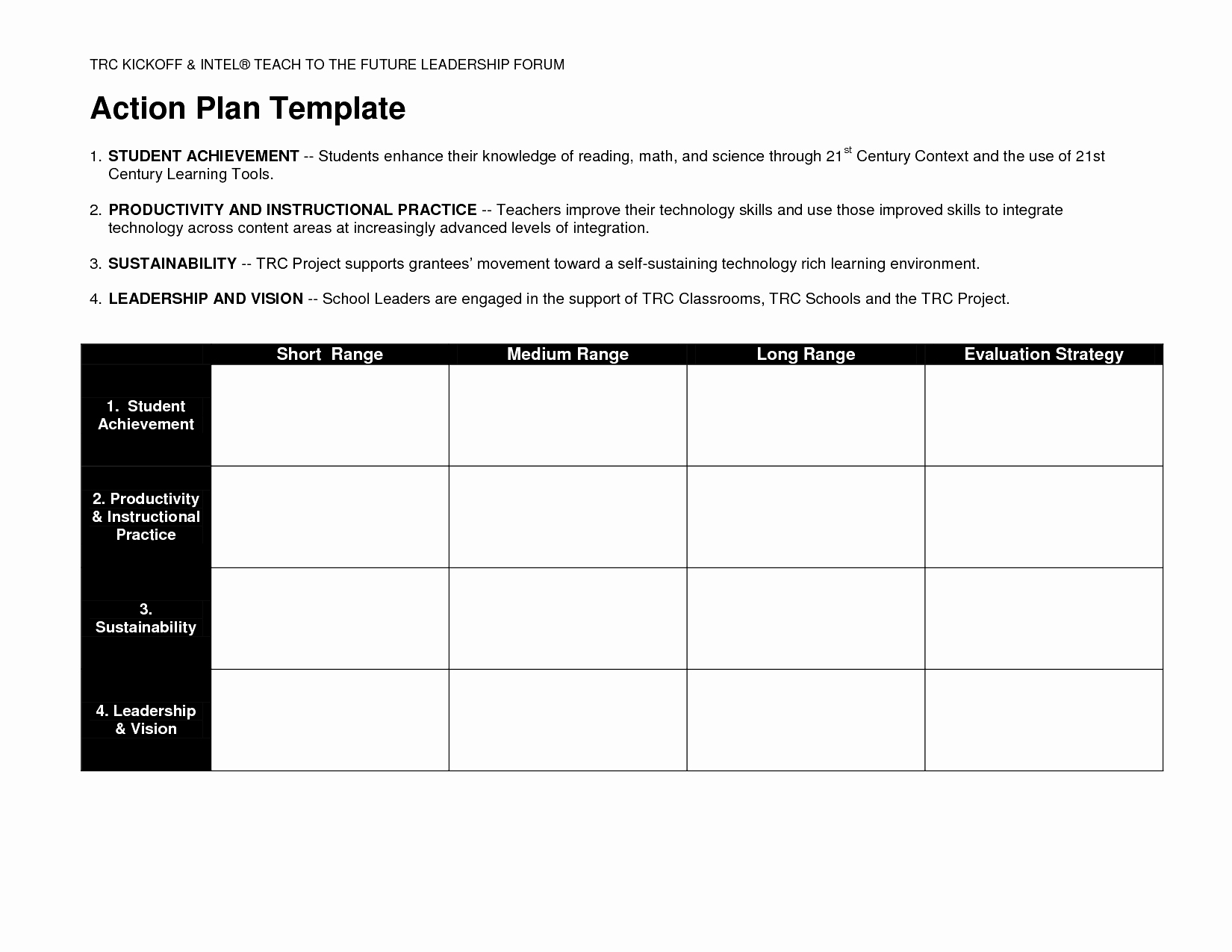 Business Action Plan Template Example Mughals