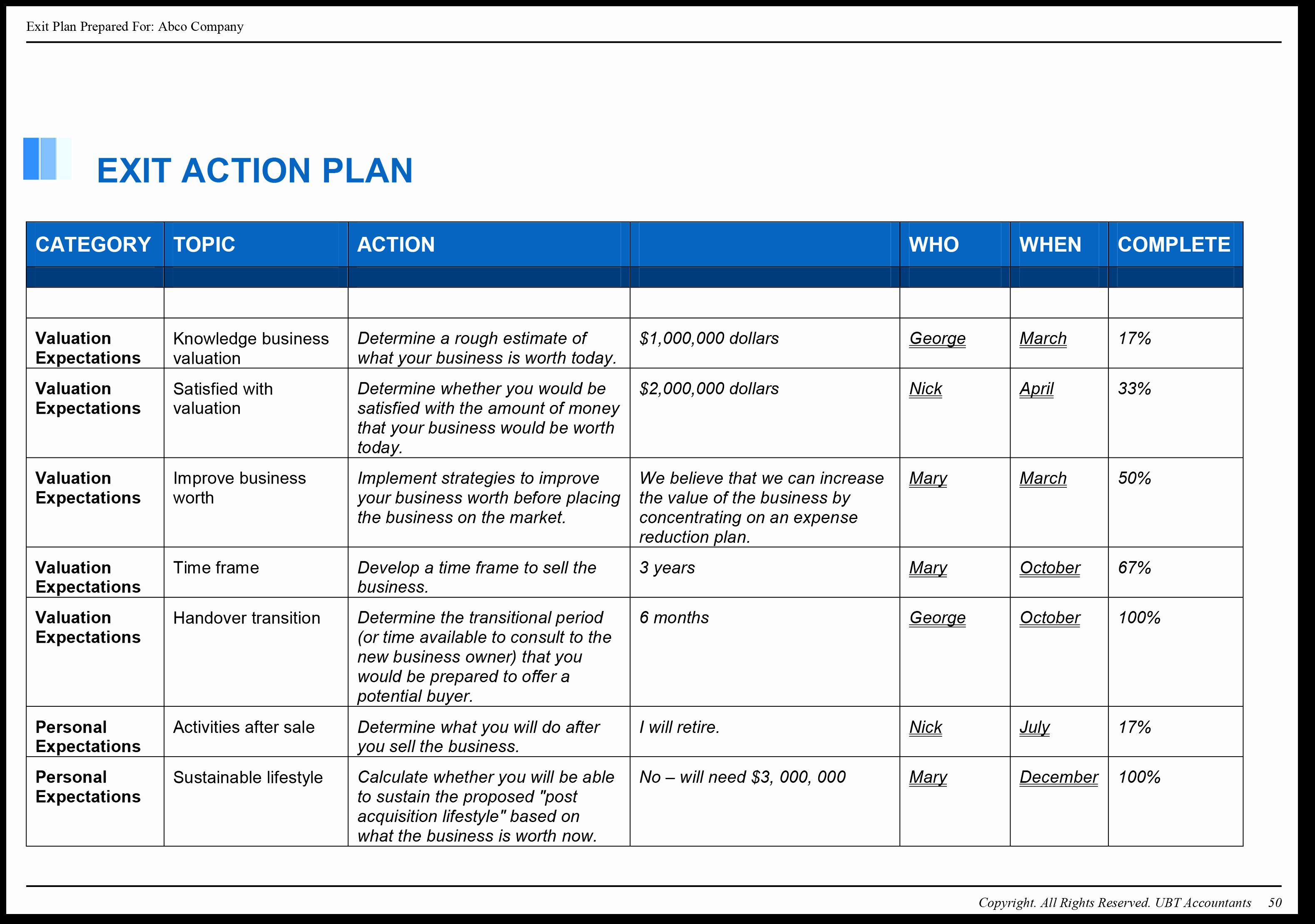 Business Action Plan Template Mughals