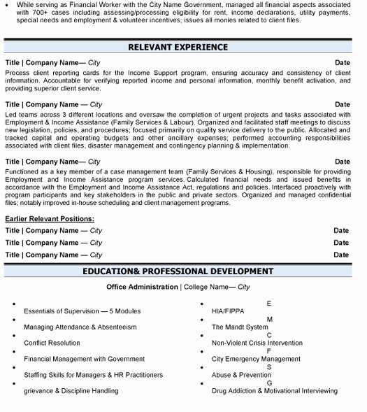 Business Administration Resume Sample & Template