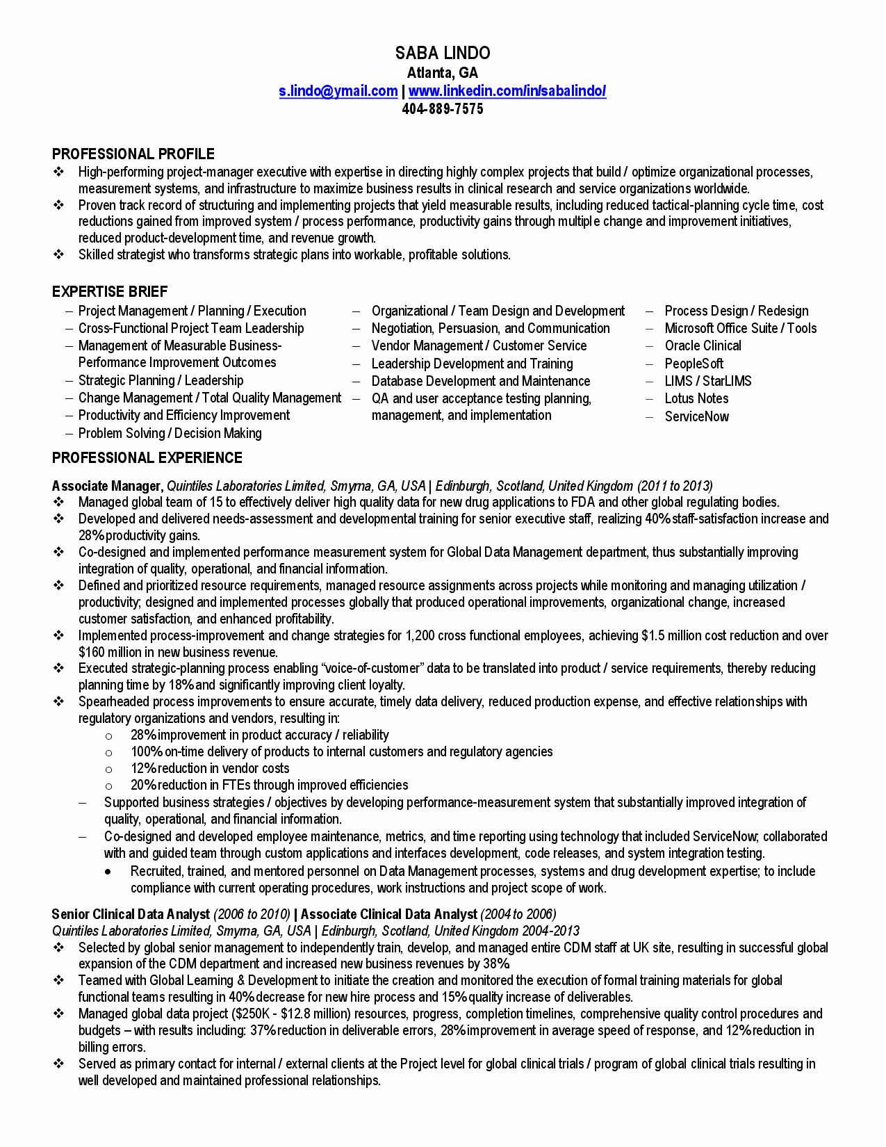 Business Analyst Resume Indeed