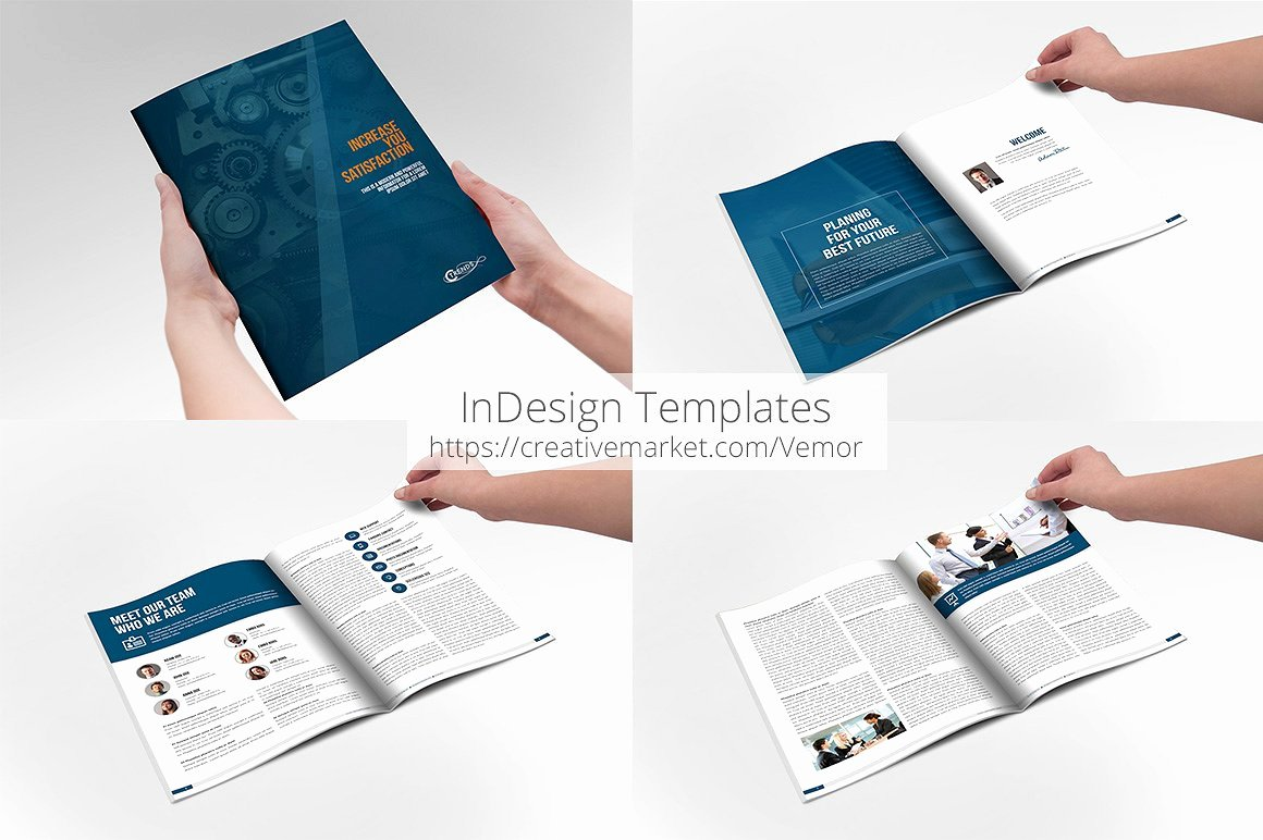 Business Annual Indesign Template Brochure Templates