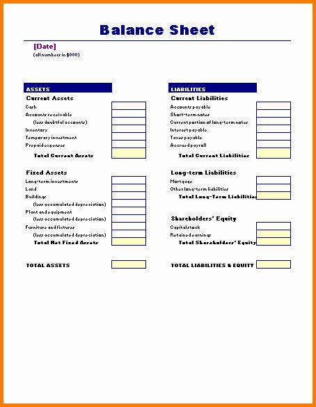 Business Balance Sheet to Pin On Pinterest