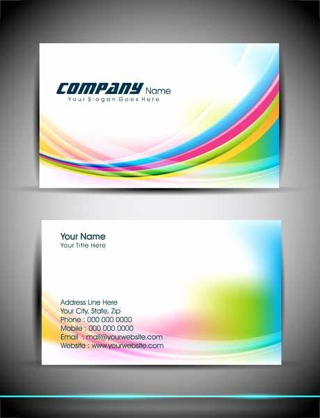 Business Card Ai Template Lovely Abstract Business Card
