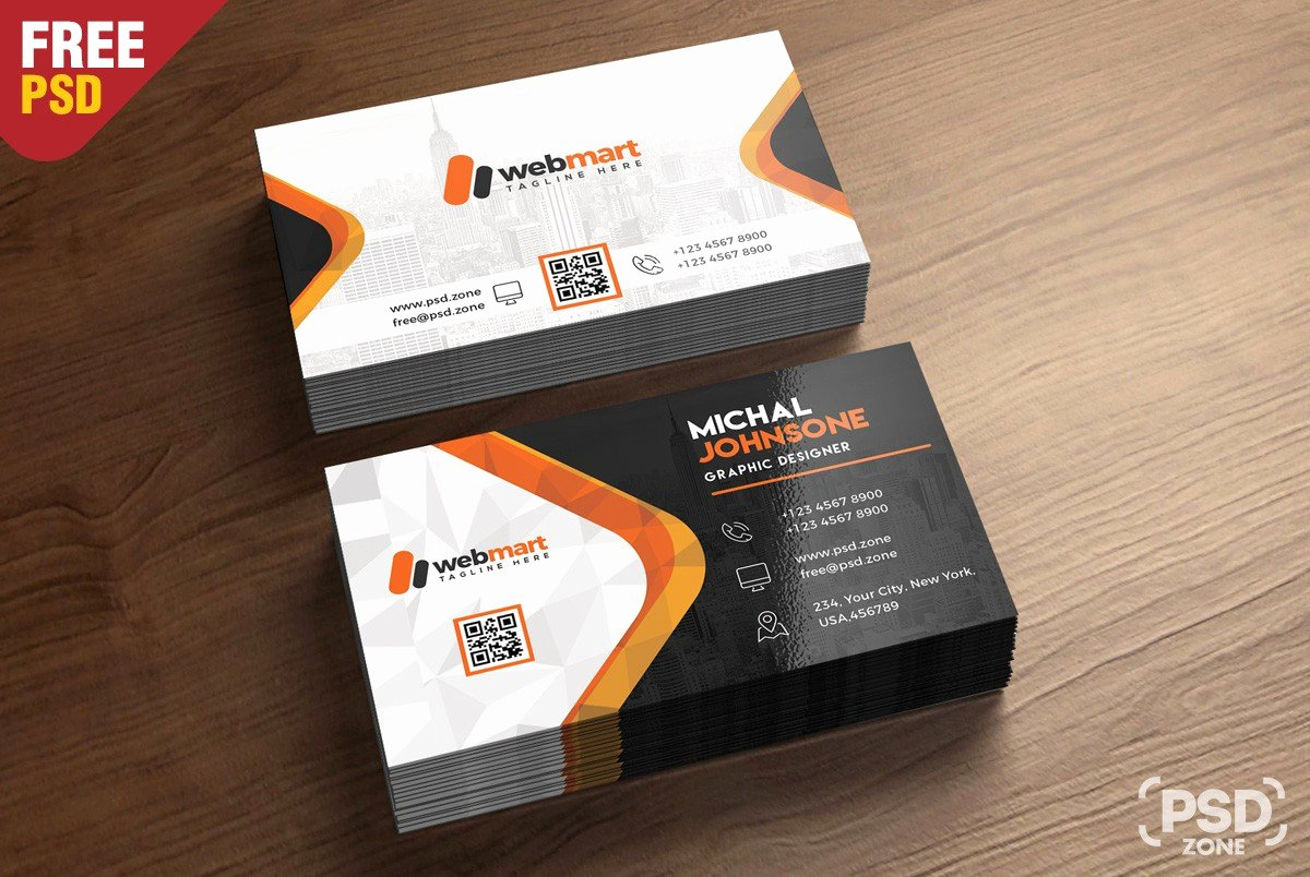 Business Card Free Psd Template Download Download Psd