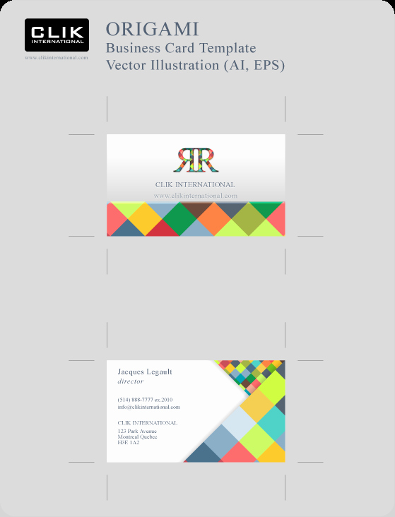 Business Card Illustrator Template Business Card Size