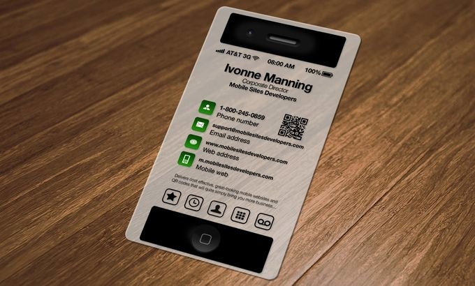 Business Card iPhone Cerca Con Google