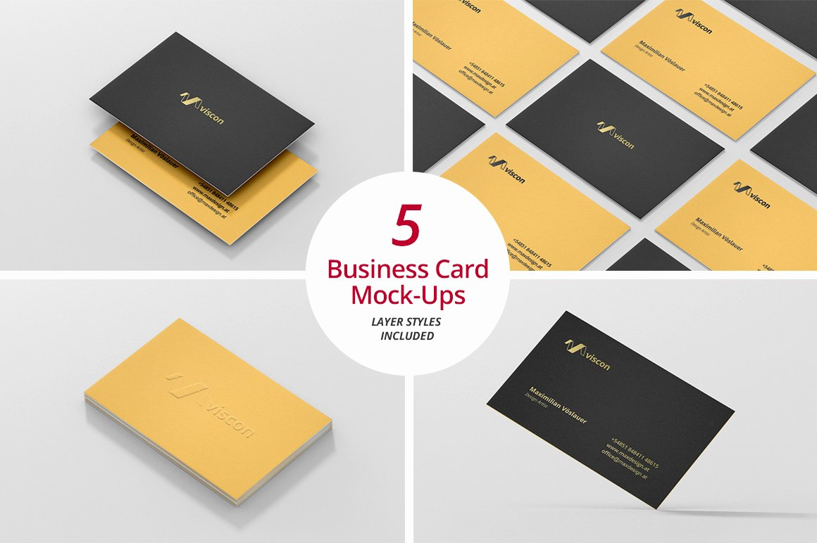 Business Card Mock Ups Product Mockups On Creative Market