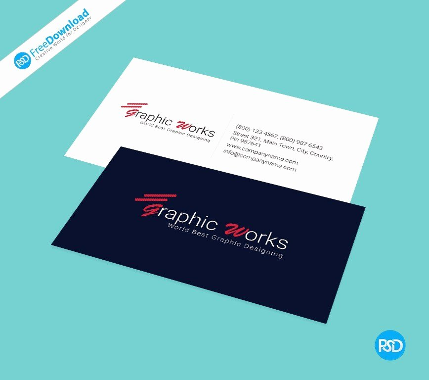 Business Card Psd Free Template