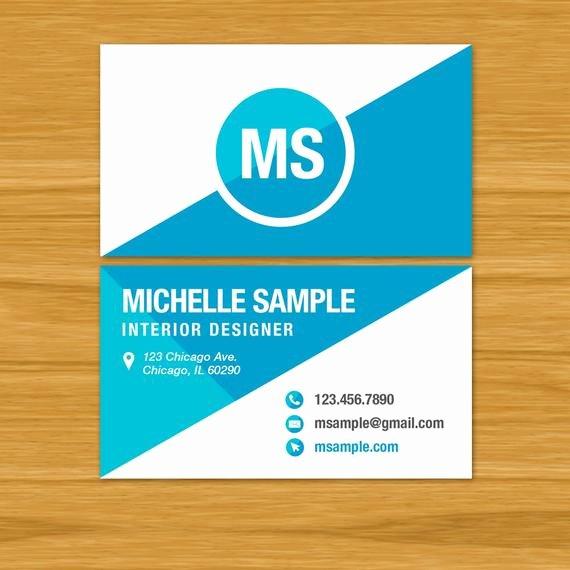 Business Card Template Custom Print Ready Pdf Digital File