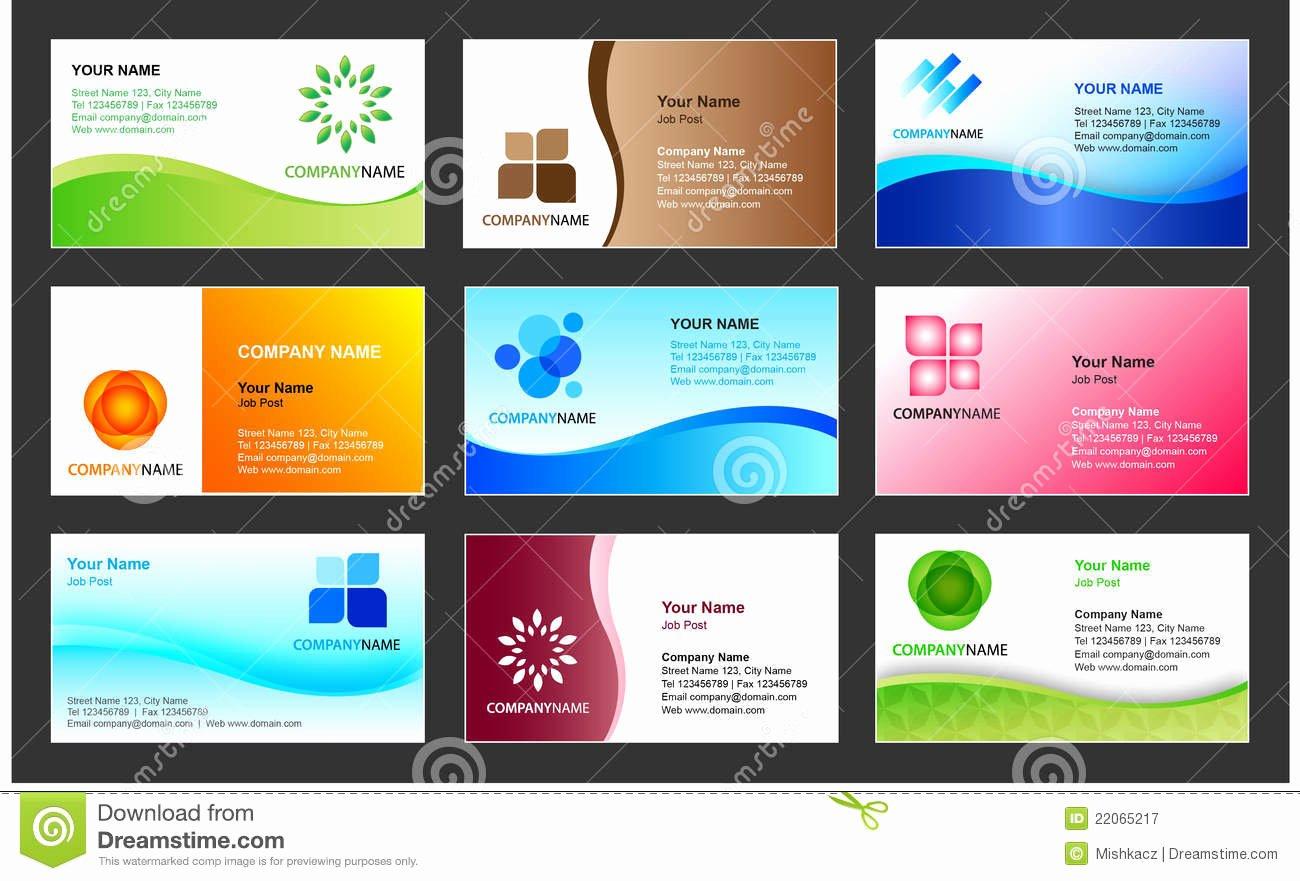 Business Card Template Design Stock Vector Illustration