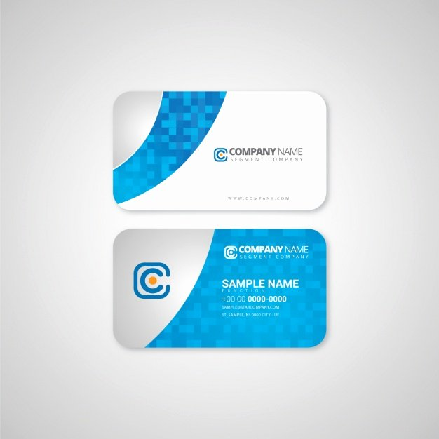 Business Card Template Design Vector