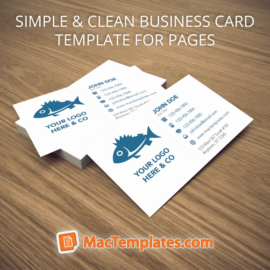 Business Card Template for Pages Business Card Design