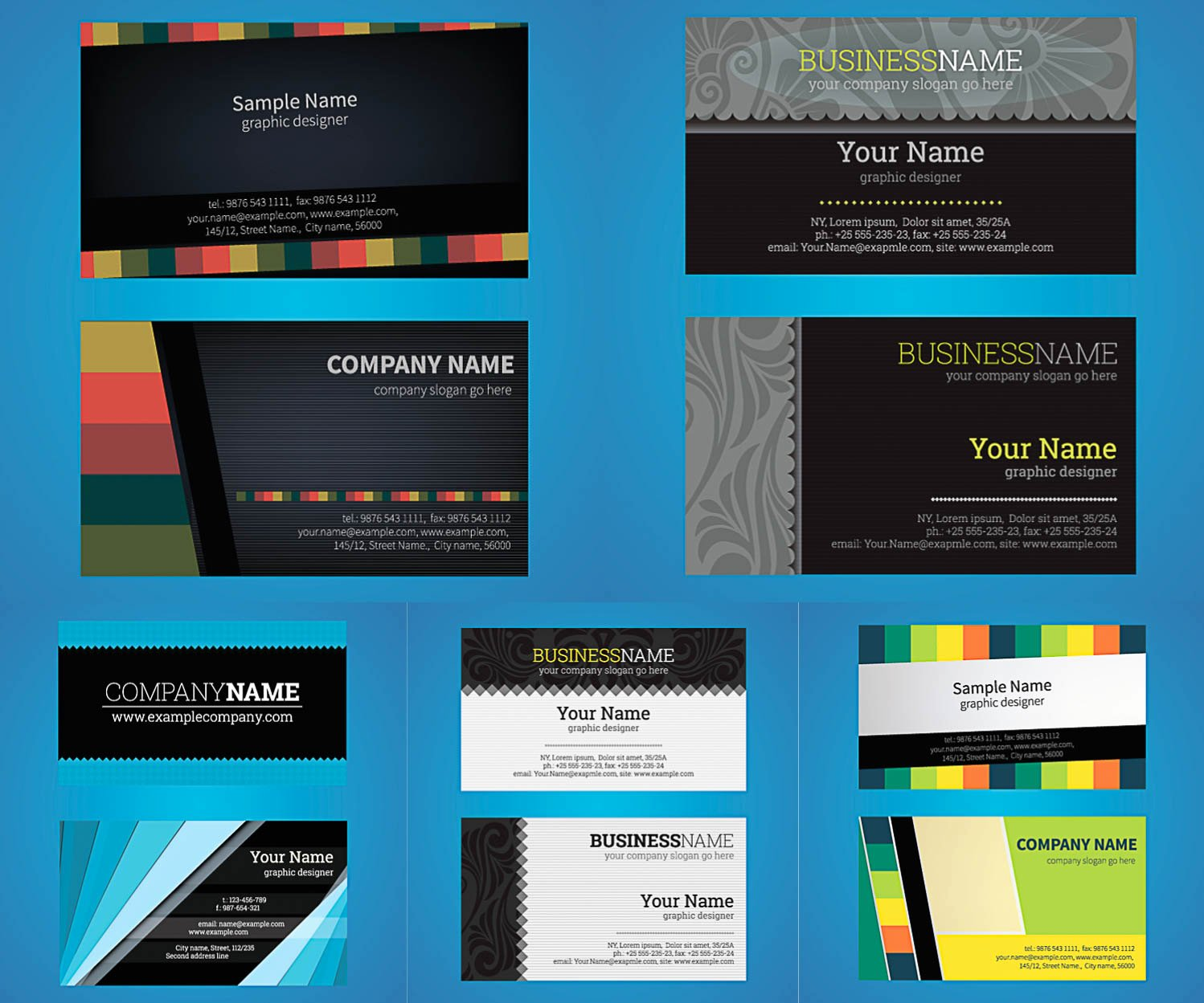 Business Card Template Illustrator Free