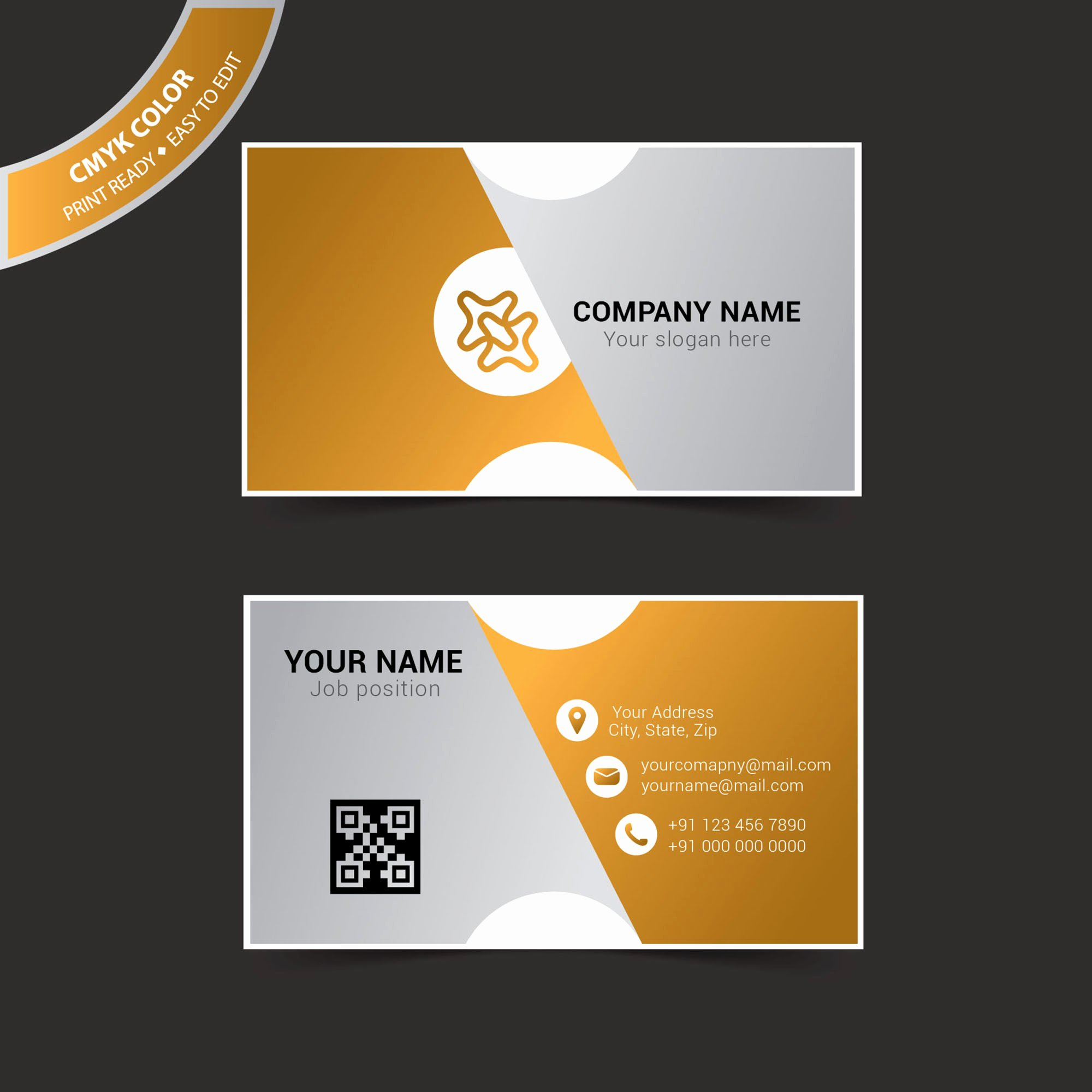 Business Card Template Illustrator Free Vector Wisxi