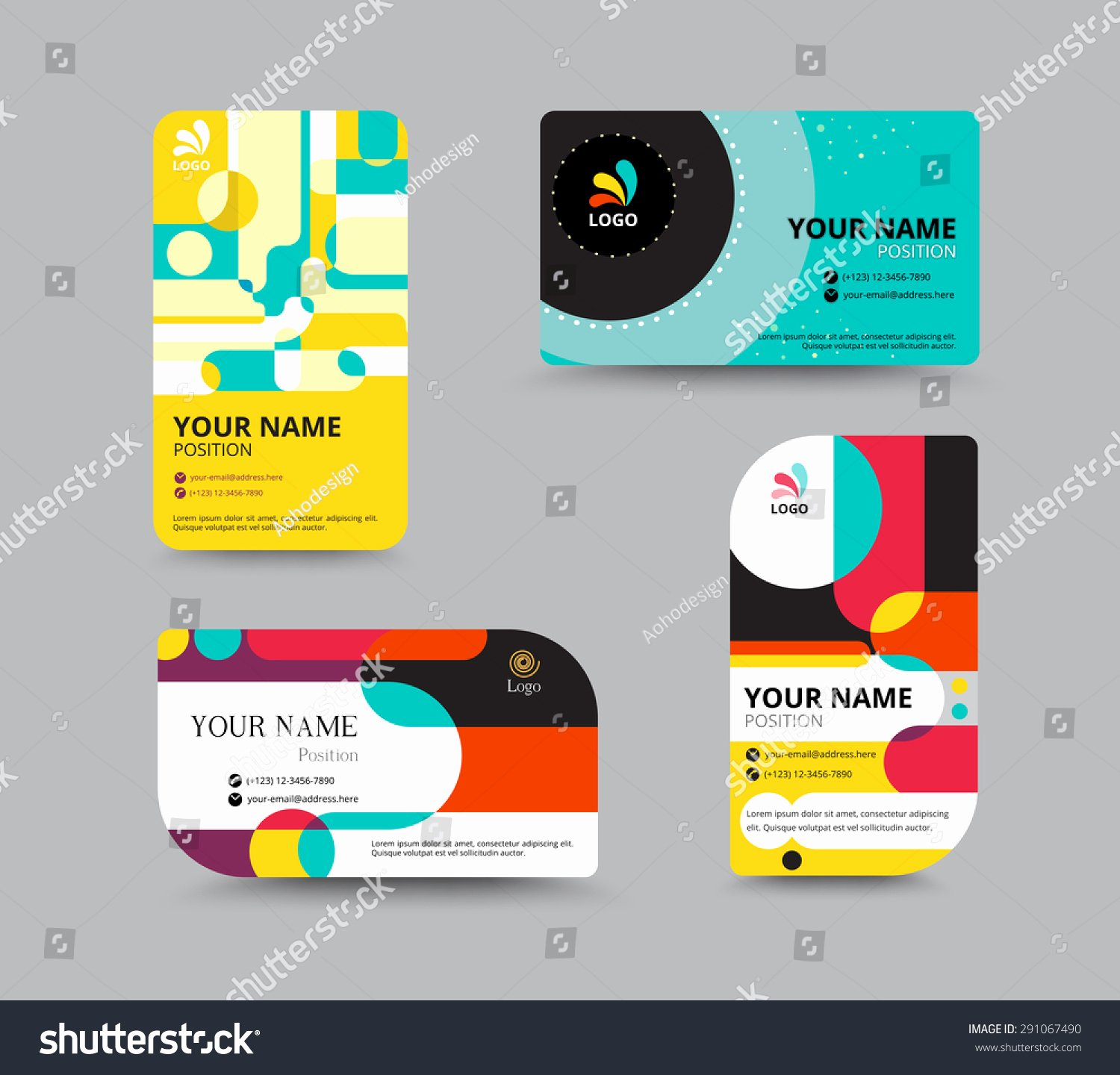 Business Card Template Name Card Design for Business