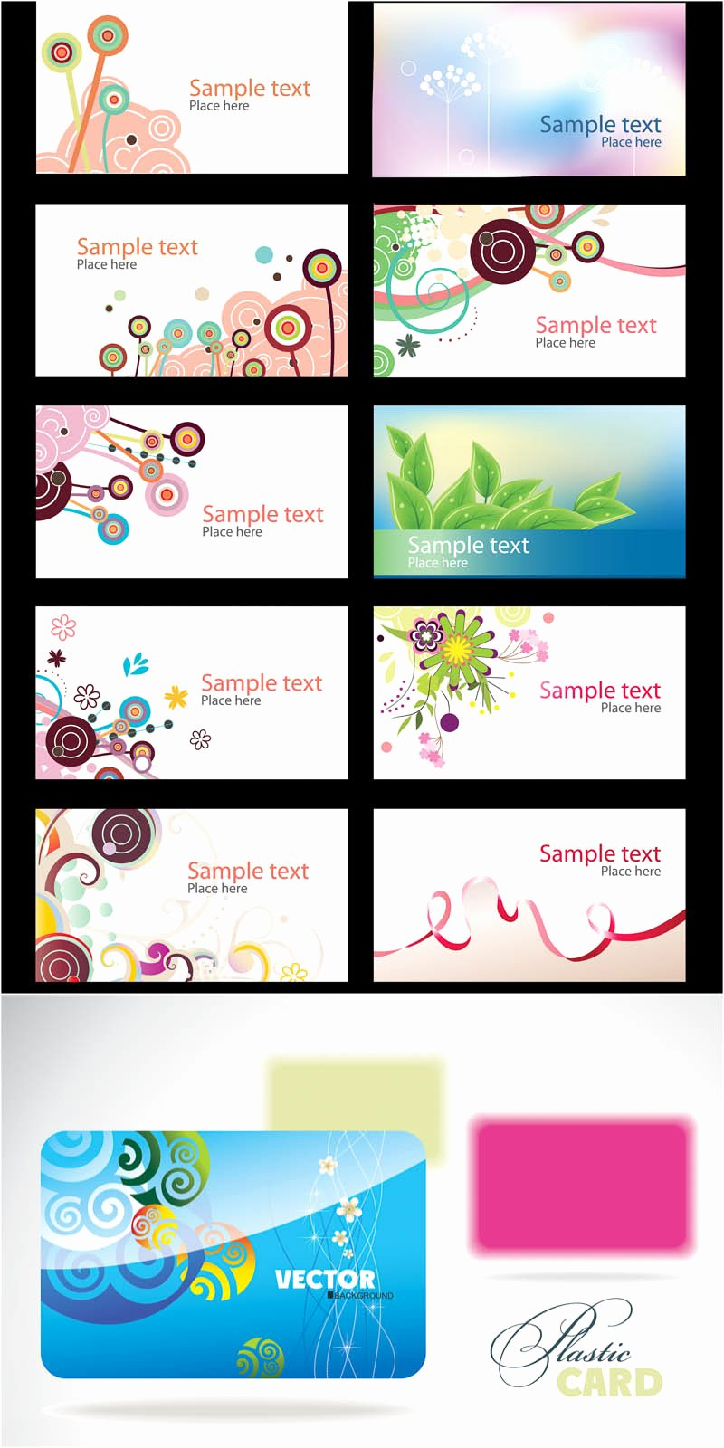 Business Cards Design Templates Vector
