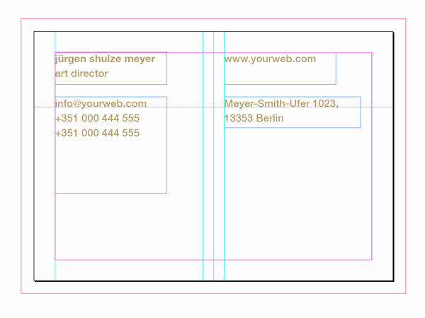 Business Cards Grid Template Business Card Template Grid