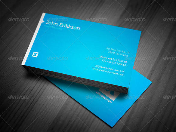 Business Cards Templates Blue