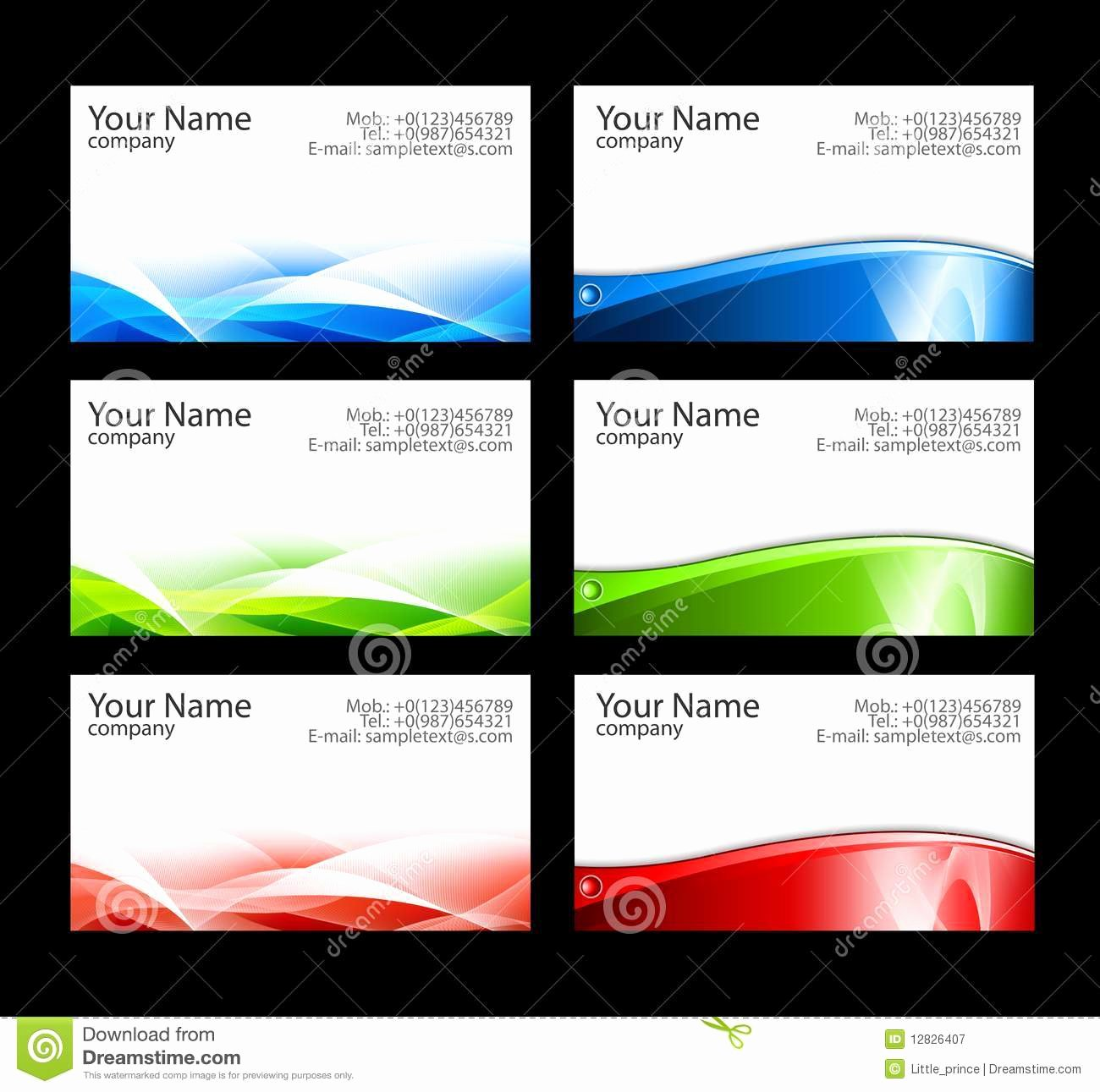 Business Cards Templates Stock Illustration Image Of