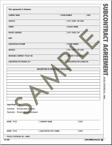 Business Contract forms Free Printable Documents