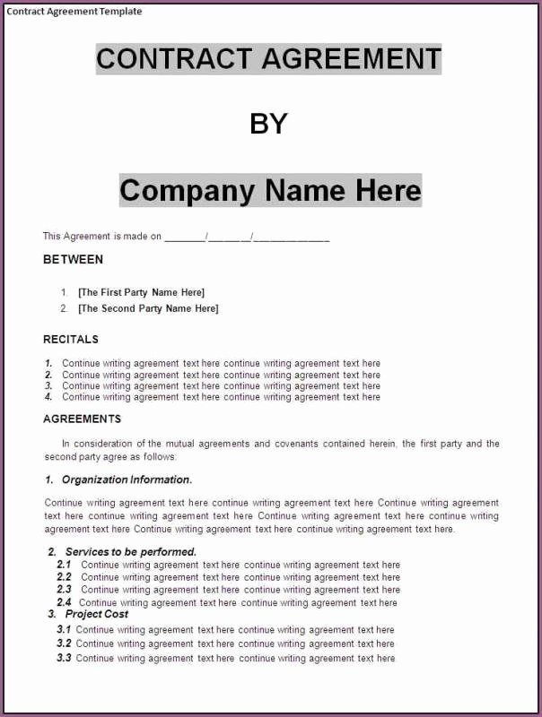 Business Contract Sample