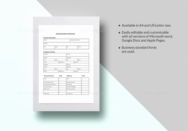 Business Credit Application form 11 Free Word Pdf