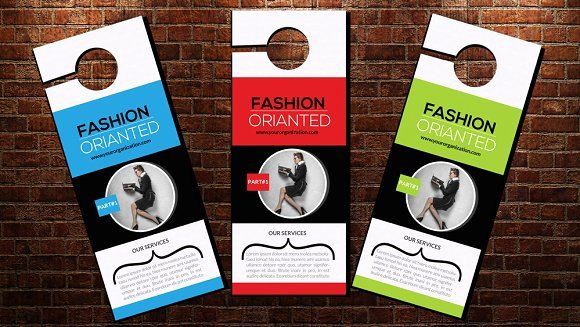 Business Door Hanger Template Flyer Templates Creative