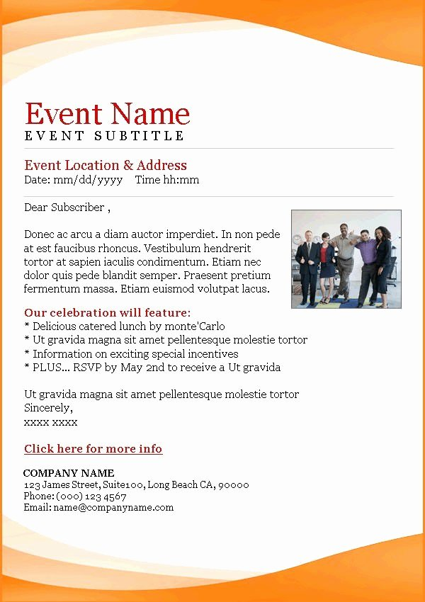 Business event Email Invitation Templates Templates