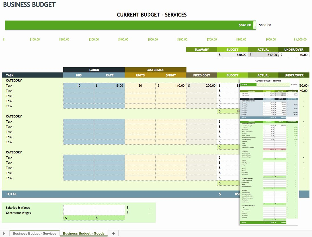 Business Expense Spreadsheet for Taxes Business Expense