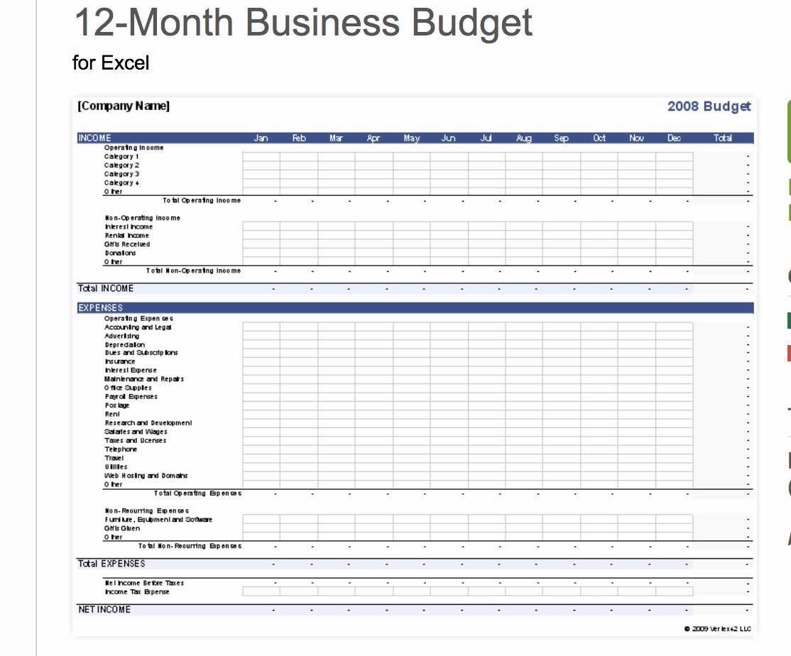 Business Expenses Template Excel Spreadsheet Template