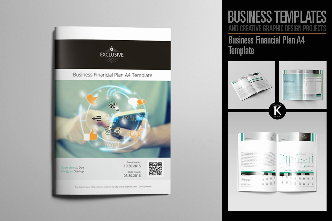 Business Financial Plan A4 Template Templates Creative