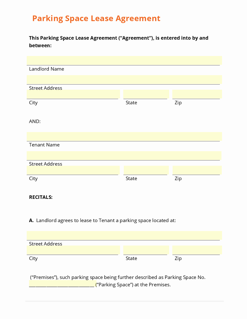 parking space lease agreement 2