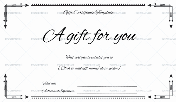 Business Gift Certificate Word – Doc formats