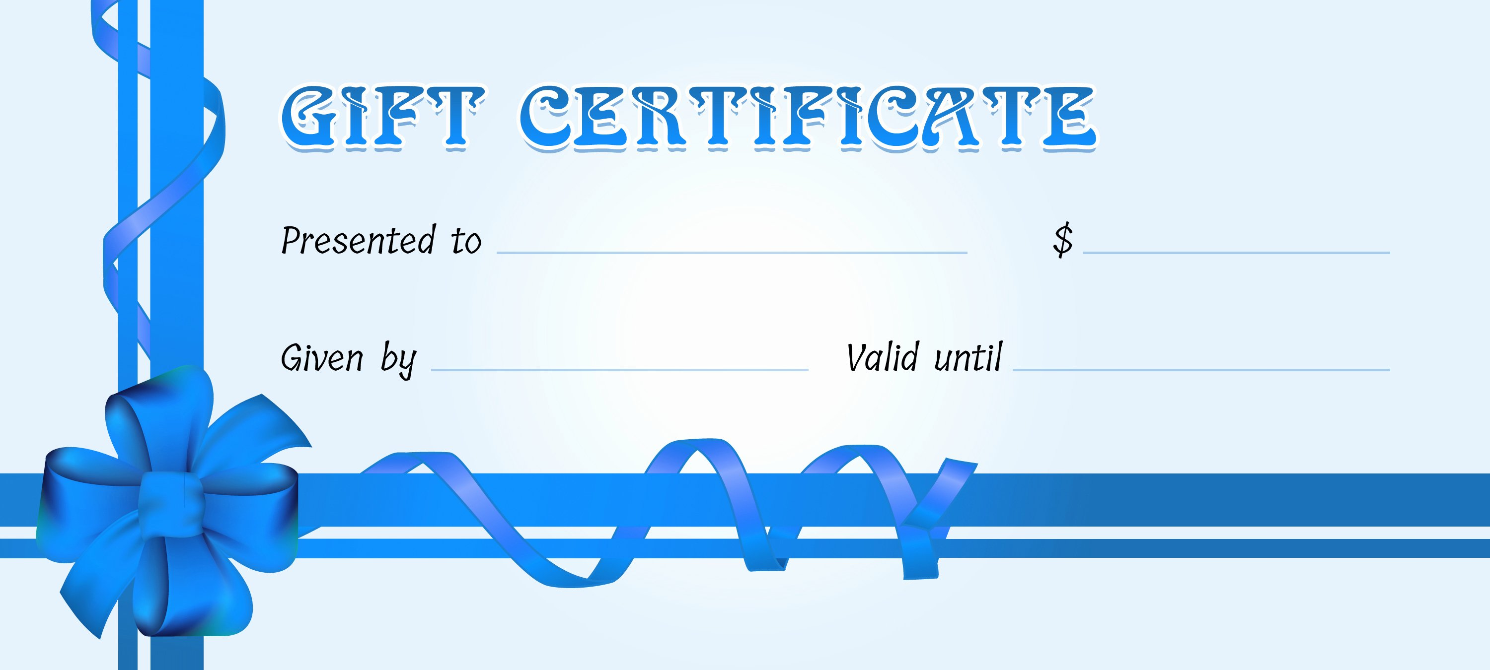 Business Gift Certificates for All events