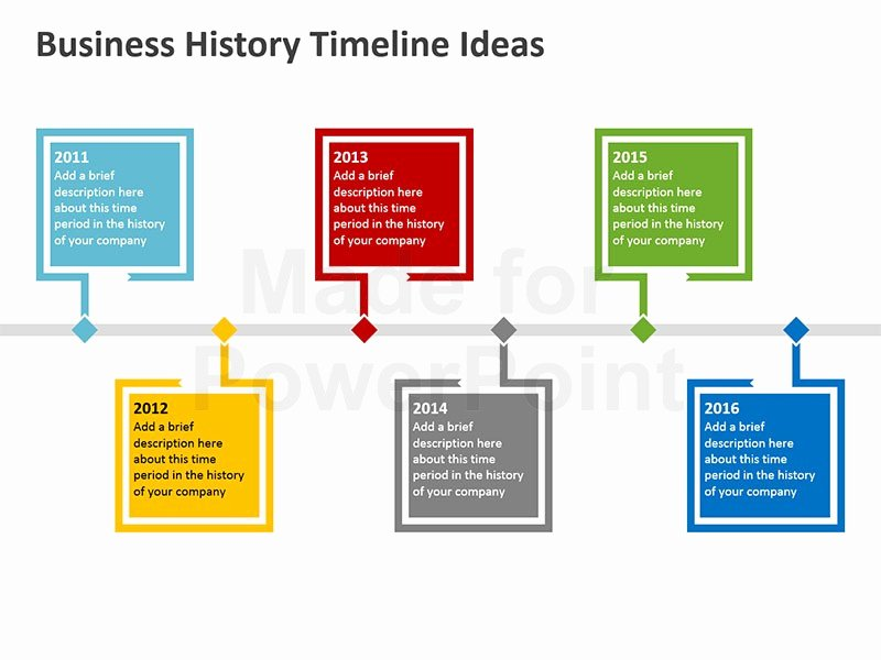 business history timeline templates ppt