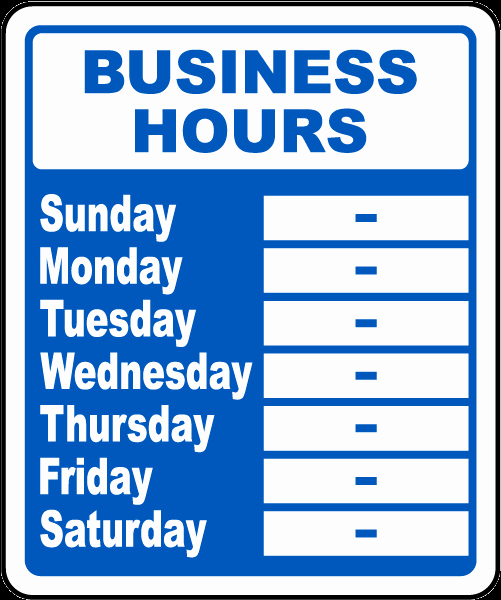 Business Hours Sign R5513 by Safetysign
