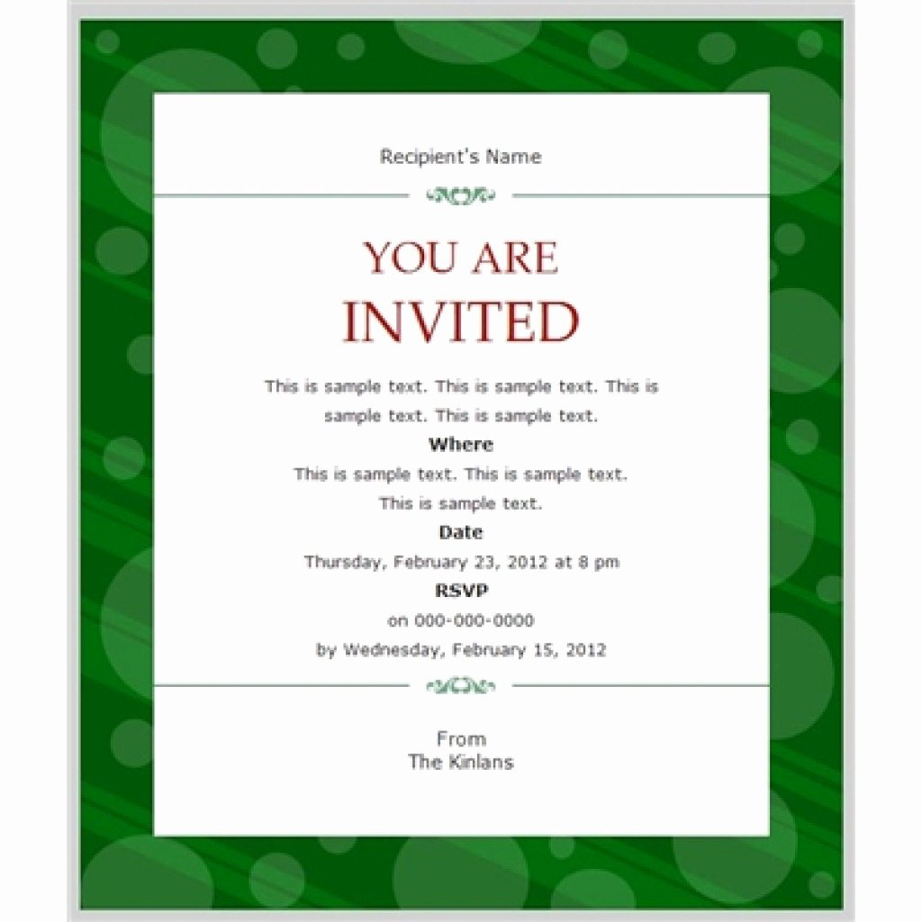 Business Invitation Template Example Mughals