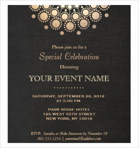 Business Invitation Templates Invitation Template