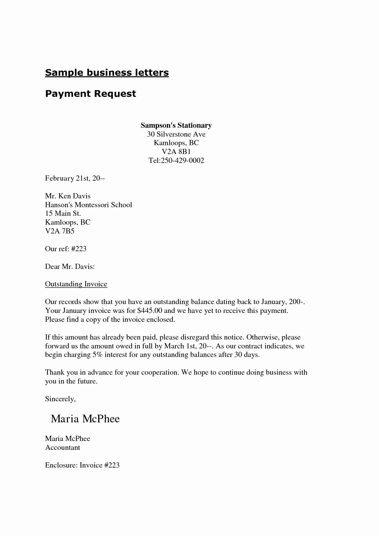 business letter enclosure