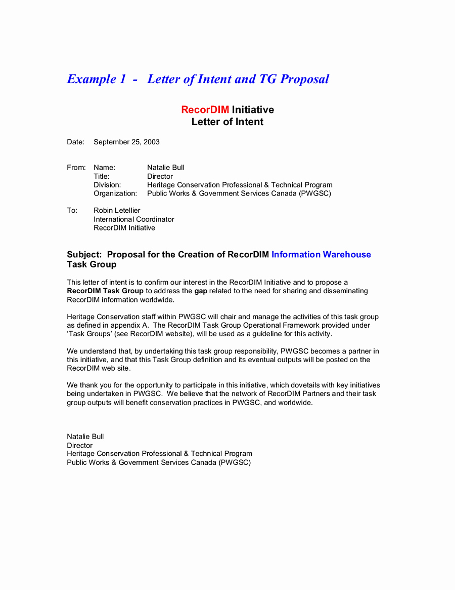 Business Letter Intent Example Mughals