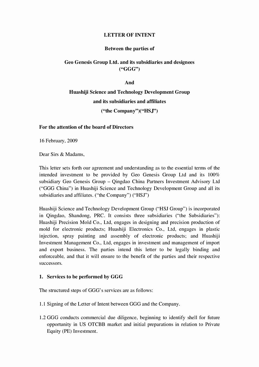 Business Letter Intent Mughals